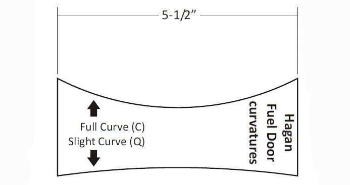 Hagan Fuel Door Curve Tamplate