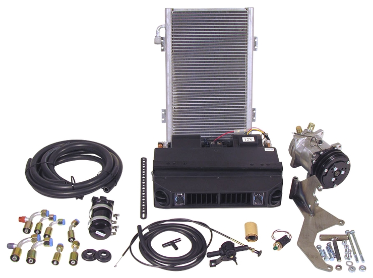 Complete Under Dash Heat Cool A/C System with Vertical Condenser