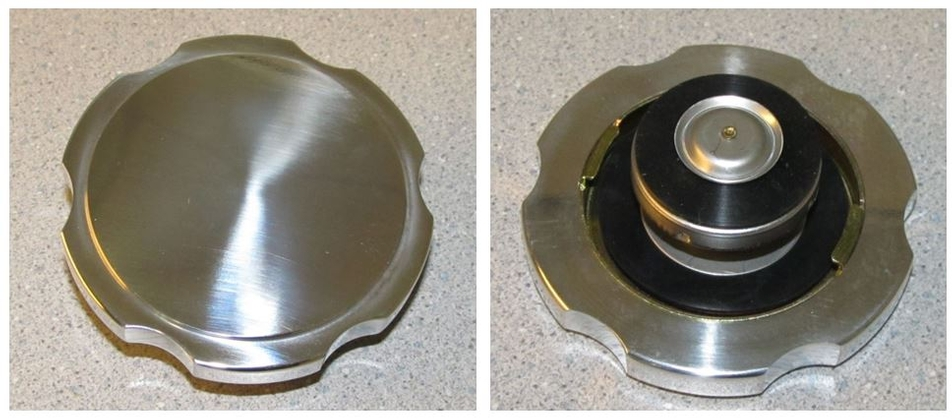 Brushed Aluminum Radiator Cap 14 lb