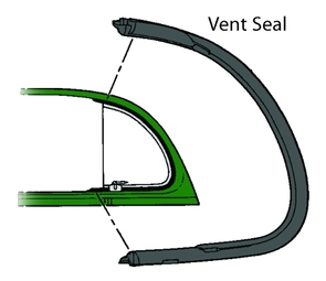 1940 Ford Closed Car & Sedan Delivery Vent Window Seal
